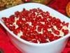Салат с языком,сыром и гранатом