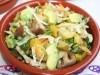 Салат пикантный с квашеной капустой,авокадо и грибами