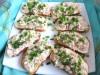 Бутерброды с  печенью трески  и горчичным соусом