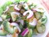Салат из 3-х видов огурчиков (постный)