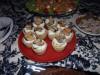Тарталетки со сливочным сыром, яблоком и копчёными мидиями