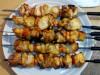 Домашний куриный шашлык  ( маринад- мед и соевый соус)