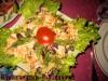 Вкусный салат с фасолью и куриным филе
