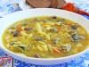 Суп с куриными сердечками и фасолью