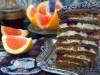 Медовый торт Спартак с малиной