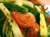 Быстрые малосольные огурцы с кабачками и помидорами